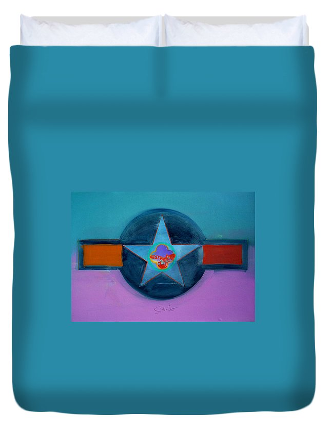 Star Duvet Cover featuring the painting Rust Or Bust by Charles Stuart