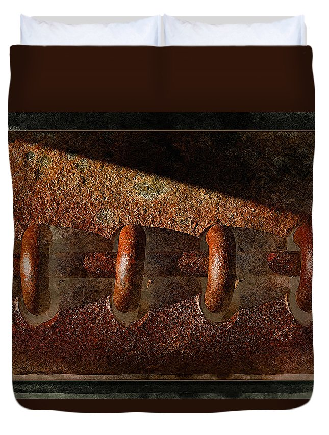 Rust Duvet Cover featuring the photograph Rust Rings by WB Johnston