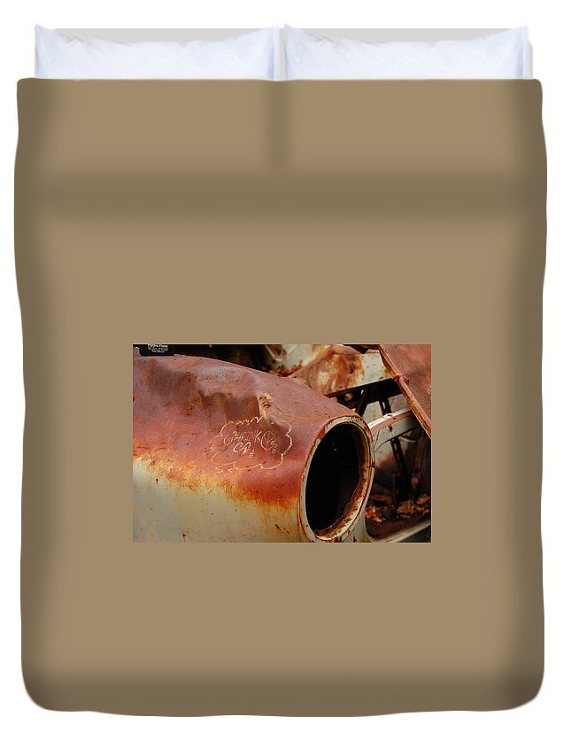 Rusted Duvet Cover featuring the photograph Rusted by Tara Fisher