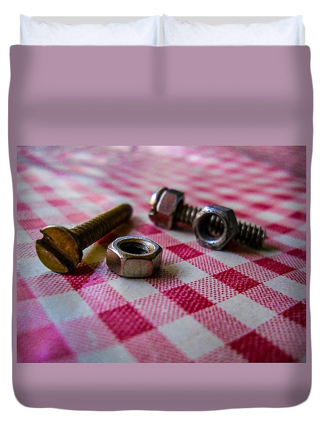 Screw Duvet Cover featuring the photograph Rusted by Yoginder Lalwani