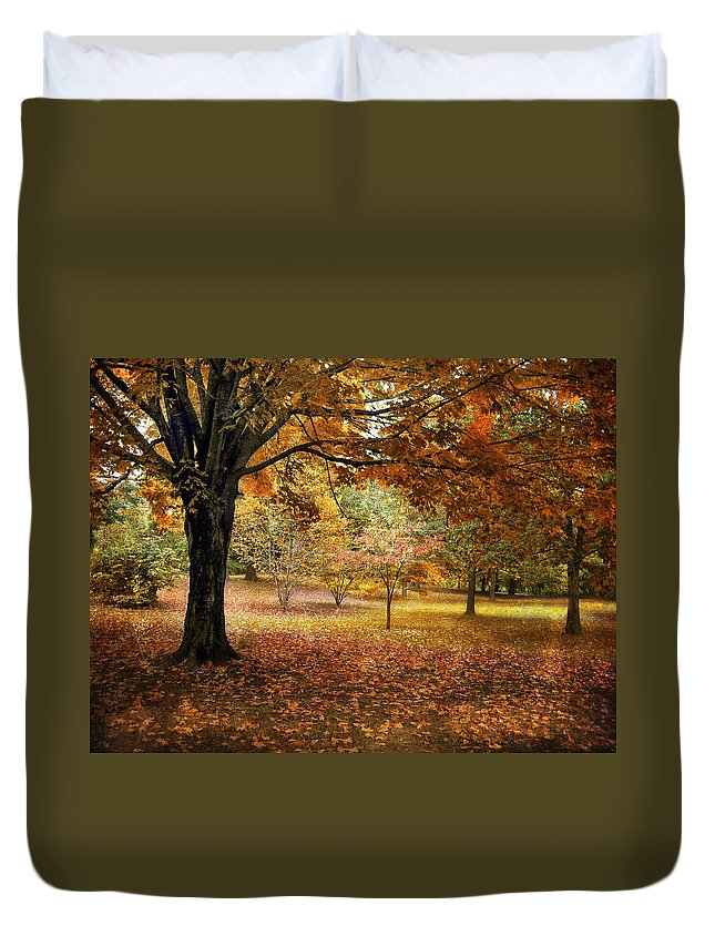 Autumn Duvet Cover featuring the photograph Rustic Autumn by Jessica Jenney