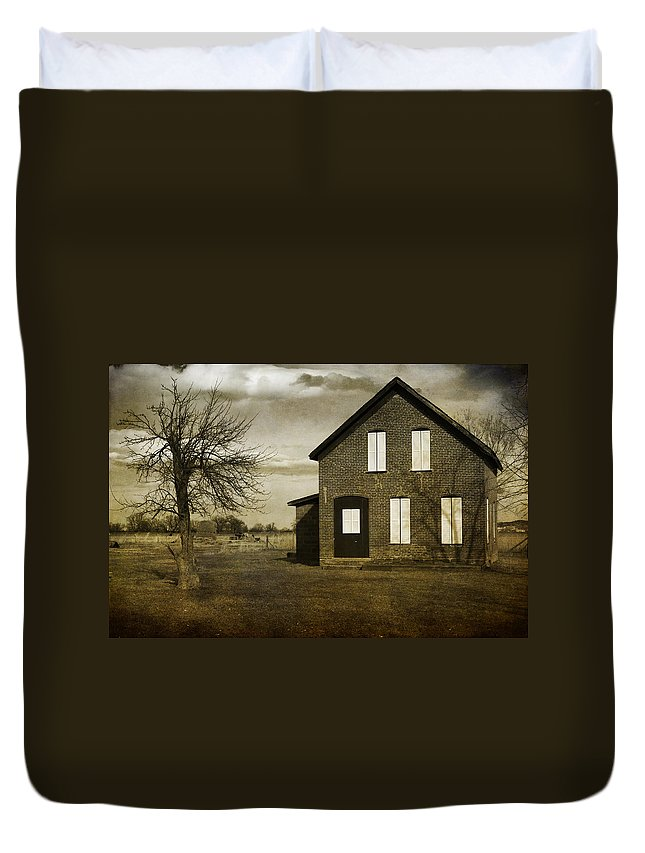 House Duvet Cover featuring the photograph Rustic County Farm House by James BO Insogna