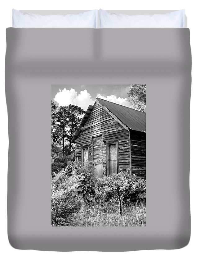 Barn Duvet Cover featuring the photograph Rustic Homestead - Antique Home Barn Country Rural by Jon Holiday