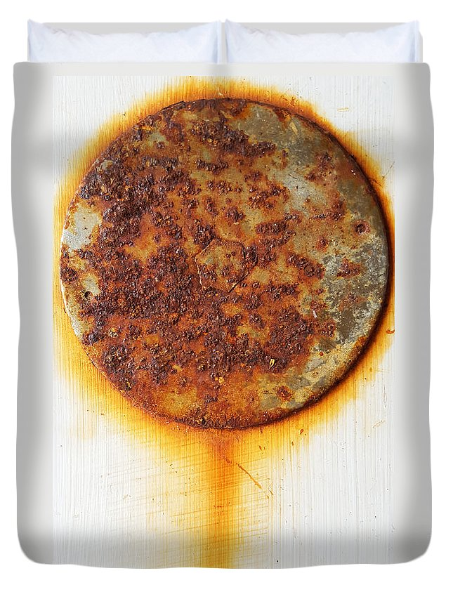 Rusty Duvet Cover featuring the photograph Rusty One by Ami Brown