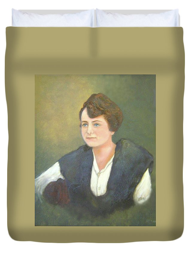 Grandma Duvet Cover featuring the painting Ruth by Jane Honn