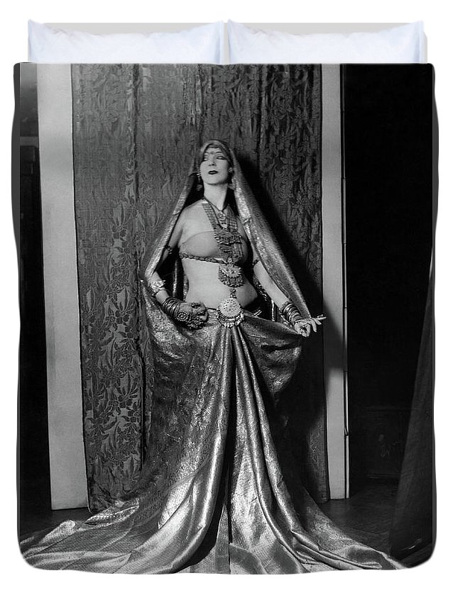 Ruth St Denis Duvet Cover featuring the photograph Ruth St Denis - Exotic Dancer by Sad Hill - Bizarre Los Angeles Archive