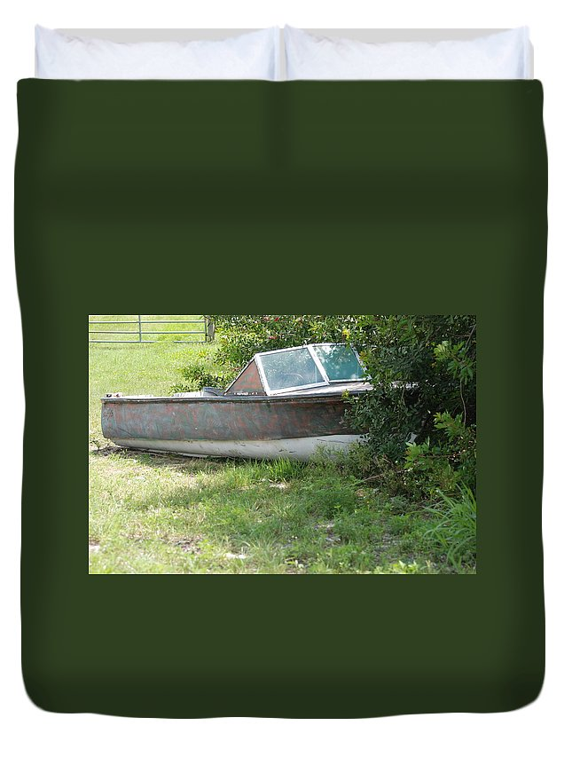 Boat Duvet Cover featuring the photograph S S Minnow by Rob Hans