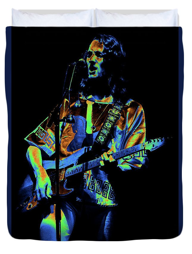 Classic Rock Duvet Cover featuring the photograph S#33 Enhanced In Cosmicolors #2 by Ben Upham