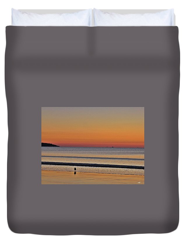Maine Duvet Cover featuring the photograph Saco Bay At Sunrise by Richard Fisher