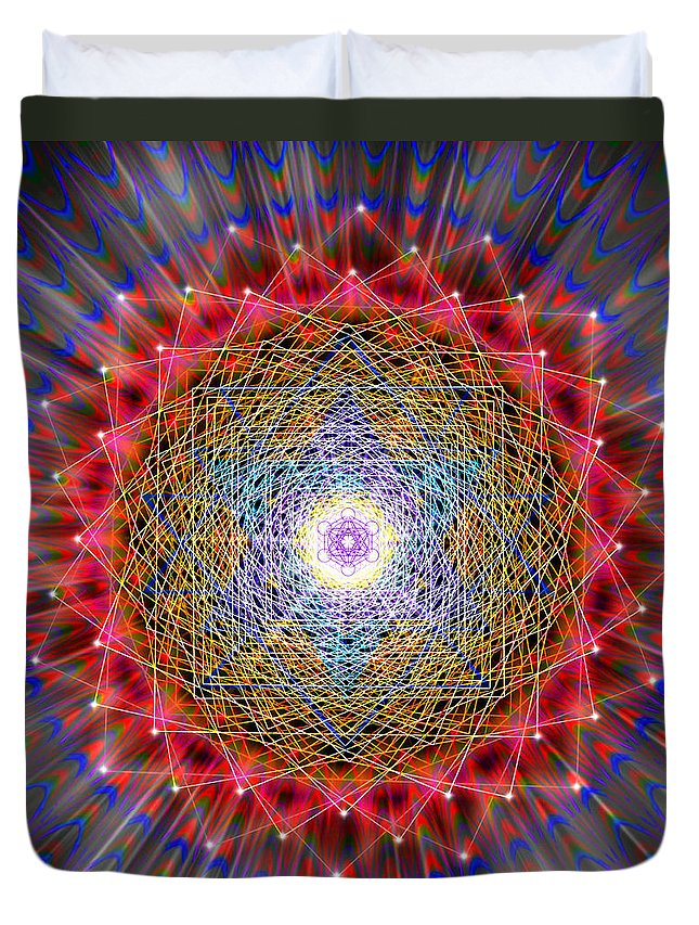 Endre Duvet Cover featuring the digital art Sacred Geometry 146 by Endre Balogh