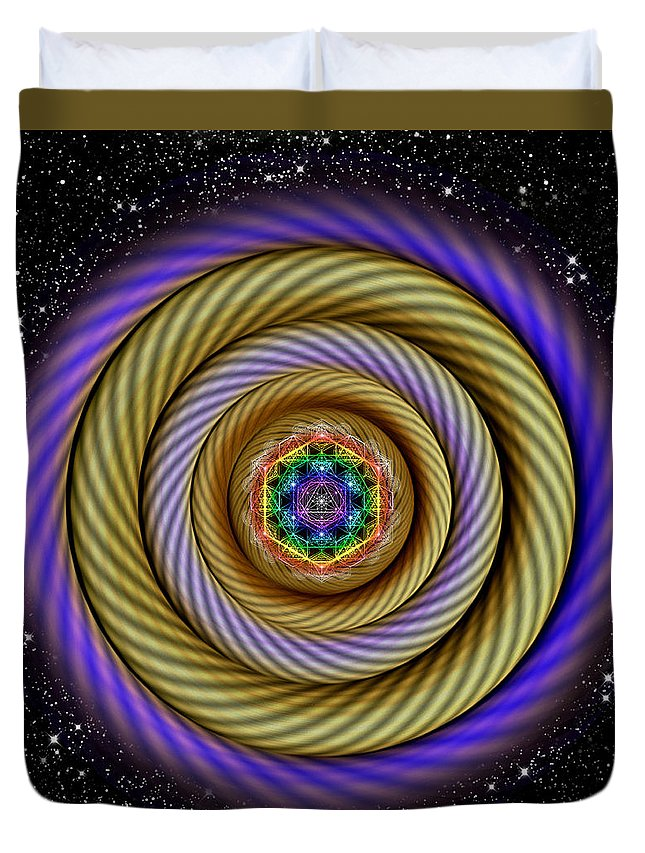 Endre Duvet Cover featuring the digital art Sacred Geometry 405 by Endre Balogh