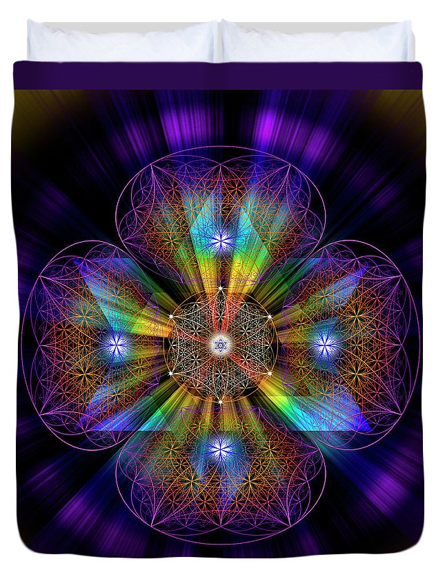 Endre Duvet Cover featuring the photograph Sacred Geometry 614 by Endre Balogh