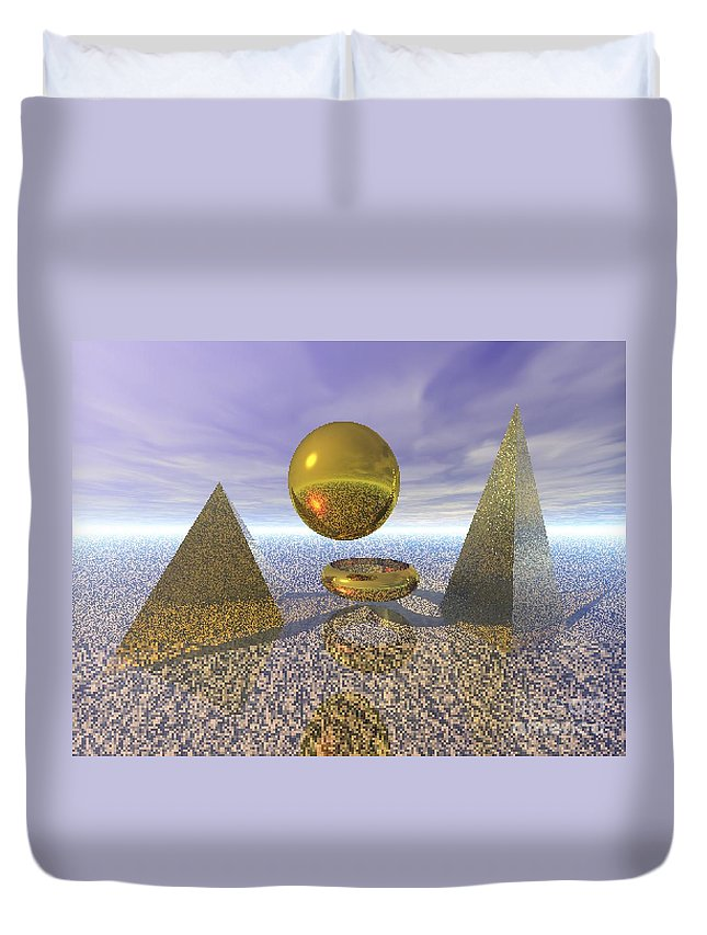 Meditation Duvet Cover featuring the digital art Sacred Geometry by Oscar Basurto Carbonell