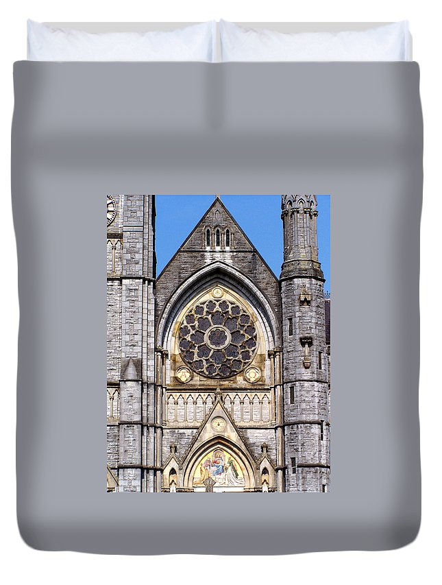 Ireland Duvet Cover featuring the photograph Sacred Heart Church Detail Roscommon Ireland by Teresa Mucha