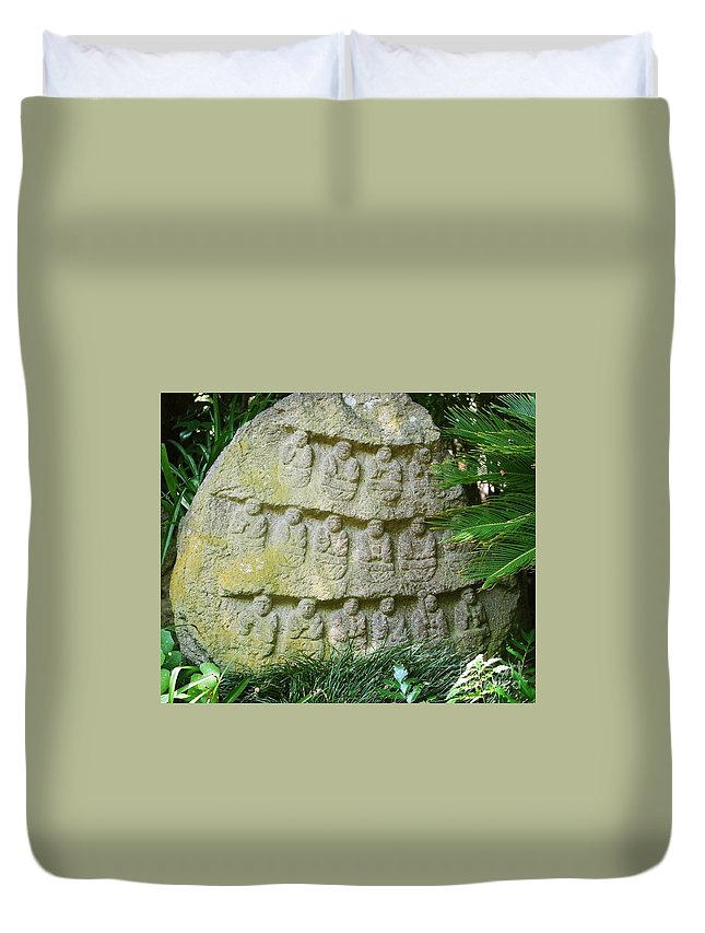 Stone Duvet Cover featuring the photograph Sacred Stone by Dean Triolo