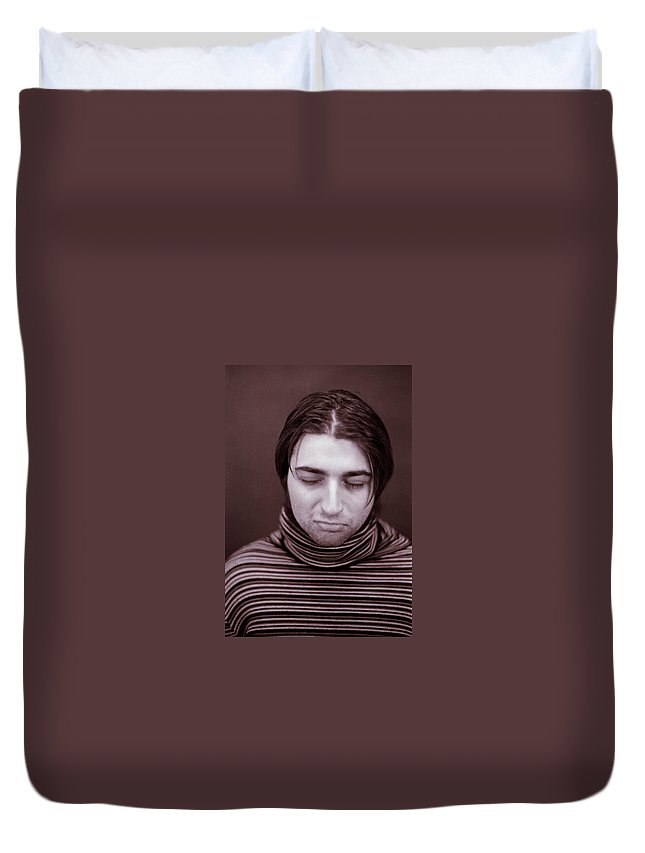 Sad Duvet Cover featuring the photograph Sad by Joshua Macneil