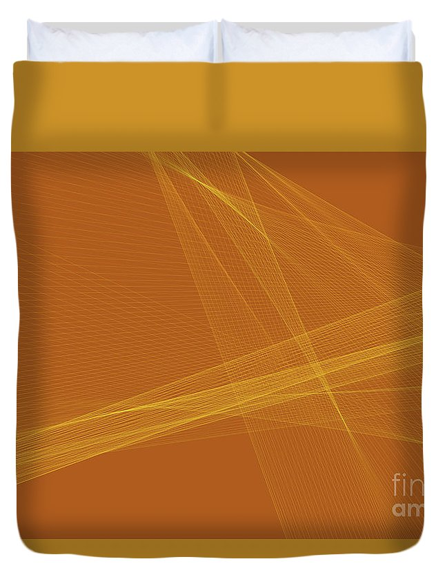 Abstract Duvet Cover featuring the digital art Safari Computer Graphic Line Pattern by Frank Ramspott