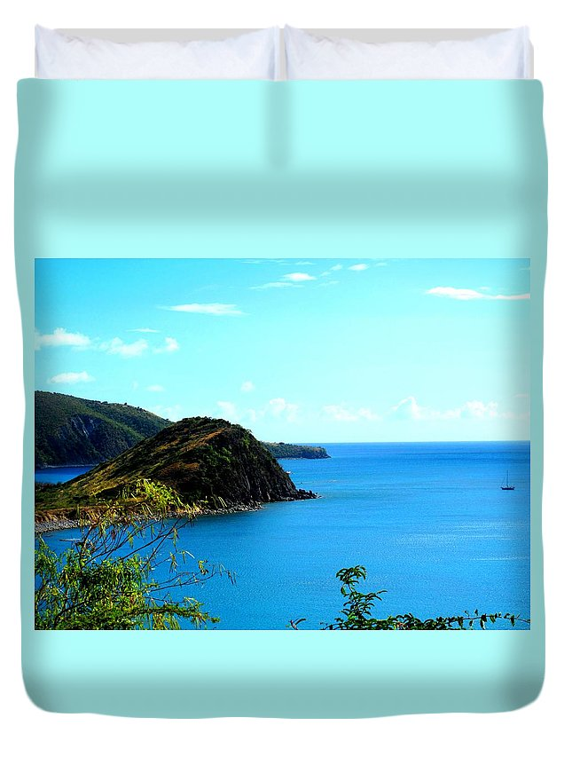 St Kitts Duvet Cover featuring the photograph Safe Harbor by Ian MacDonald