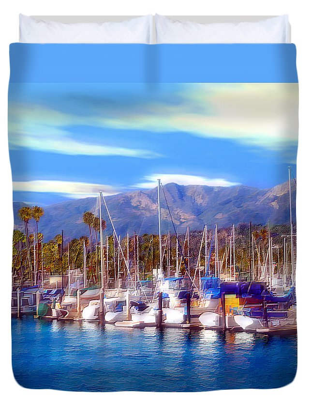 Charbor Duvet Cover featuring the photograph Safe Haven by Kurt Van Wagner