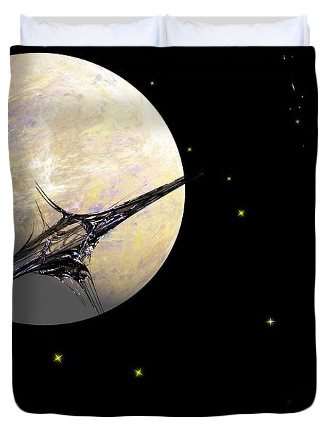 Abstract Duvet Cover featuring the digital art Sagan Station At Betelgeuse IIi by David Lane