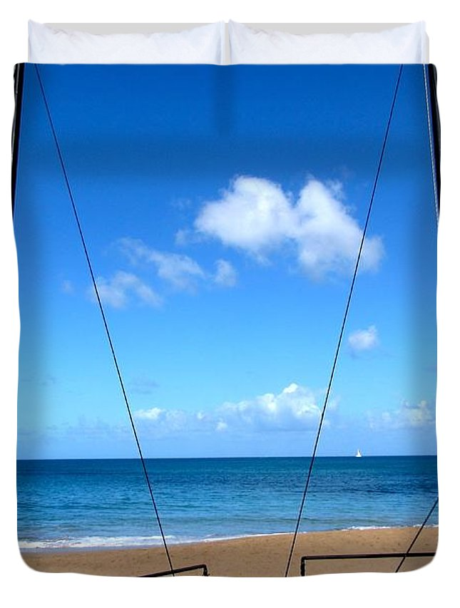 Sailing Duvet Cover featuring the photograph Sailing by Angela Niesz