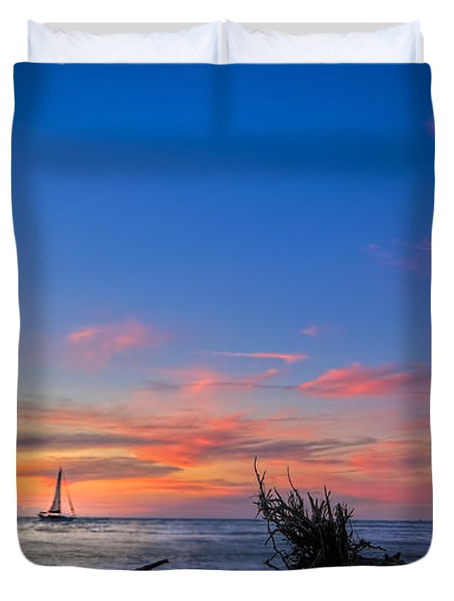 Sailing Hazard Duvet Cover featuring the photograph Sailing Hazard by Marvin Spates