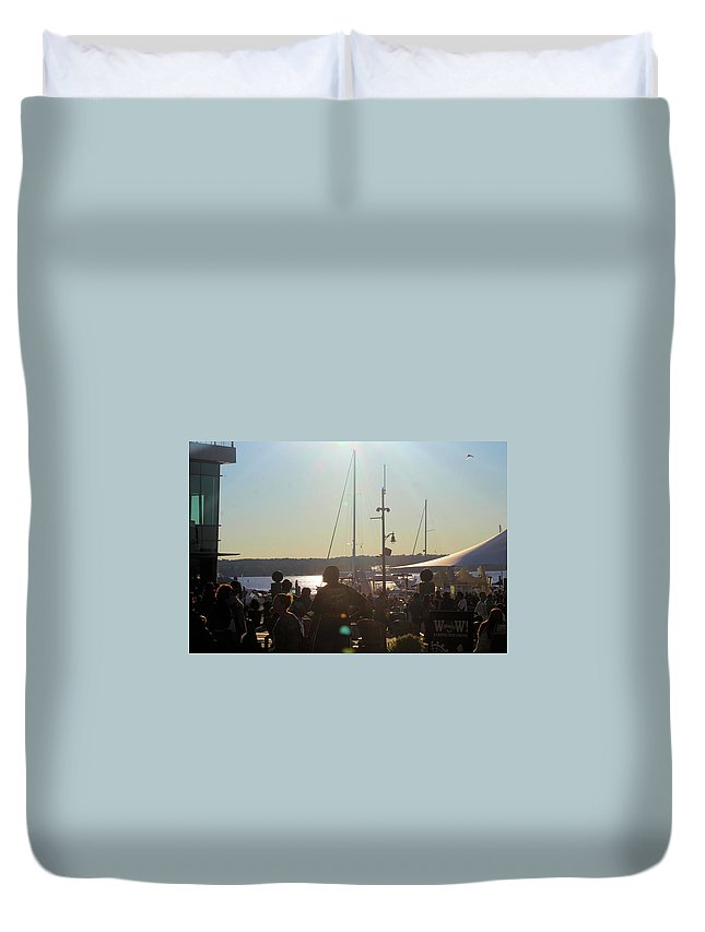 Washington Dc Duvet Cover featuring the photograph Sails And Sunsets by Tyquill Williams