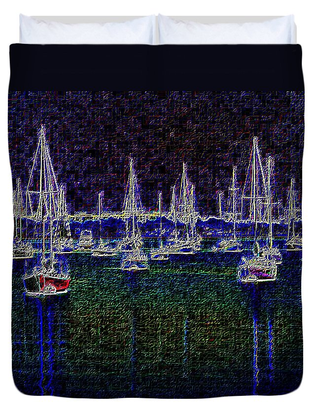 Sail Duvet Cover featuring the photograph Sails At Sunrise by Tim Allen