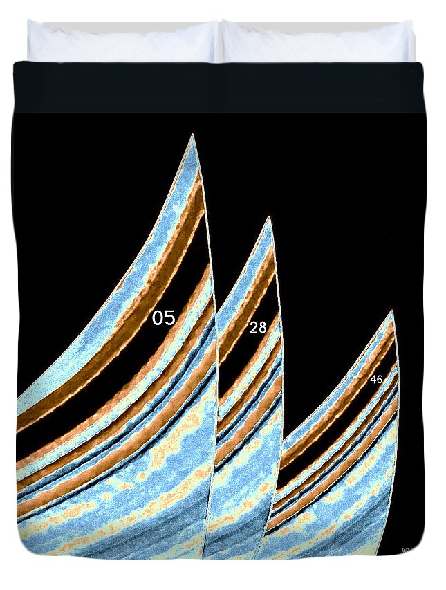 Sails Duvet Cover featuring the digital art Sails by Will Borden