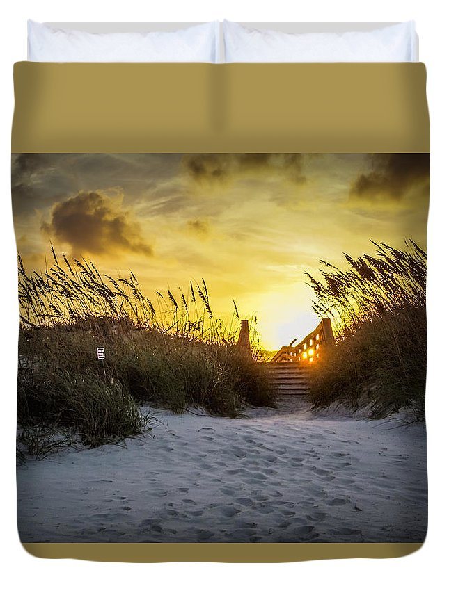 Duvet Cover featuring the photograph Saint Augustine Sunset by Sunshine Nelson