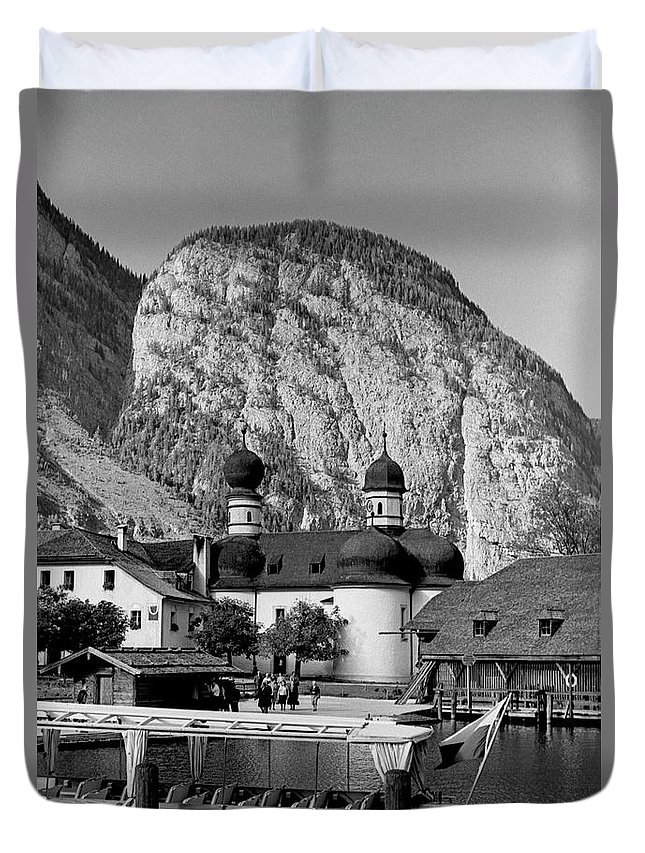 Bavaria Duvet Cover featuring the photograph Saint Bartoloma On Konigssee Lake by Lee Santa