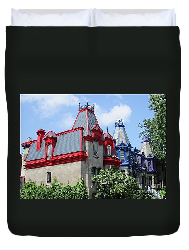 Montreal Duvet Cover featuring the photograph Saint Louis Square 4 by Randall Weidner