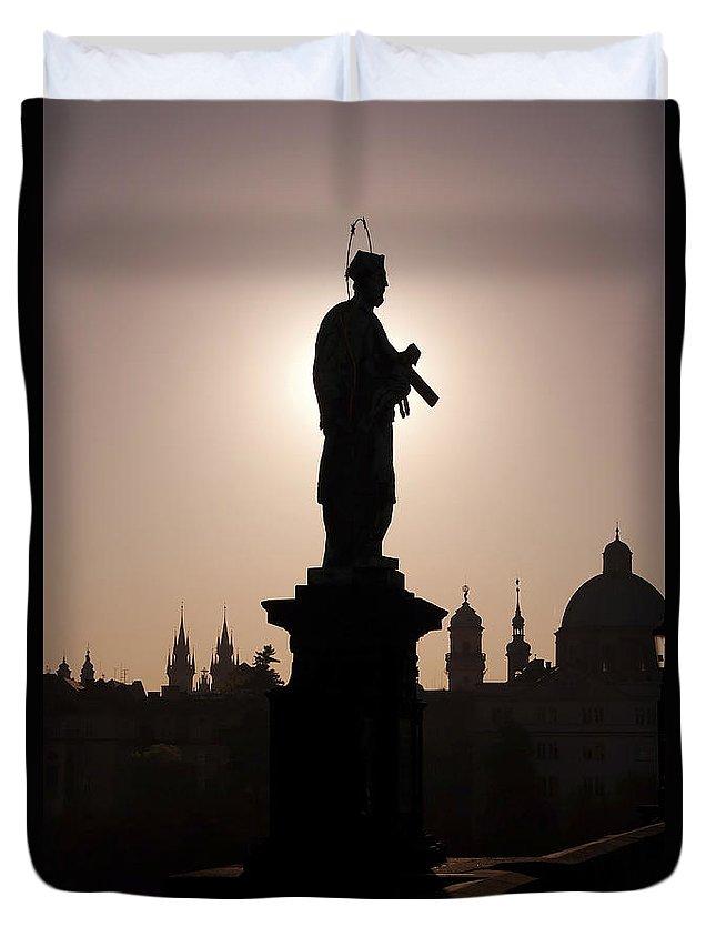Prague Duvet Cover featuring the photograph Saint by Michal Boubin