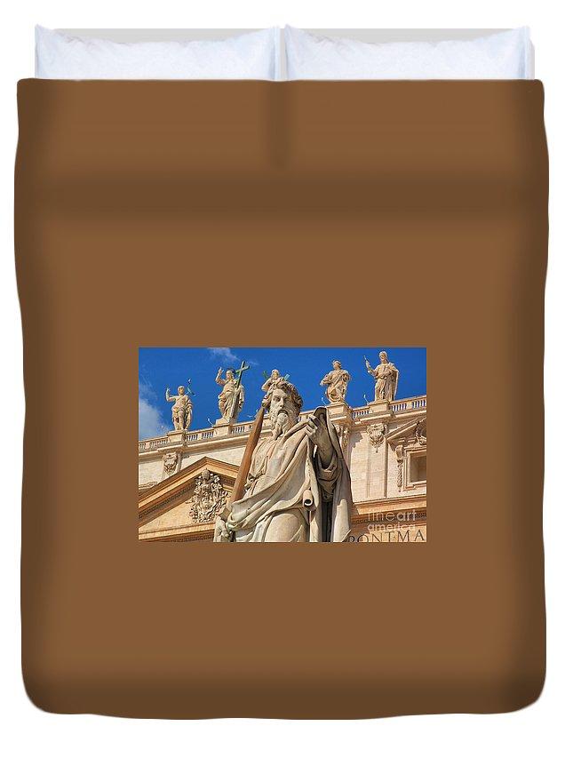 Vatican City Duvet Cover featuring the photograph Saints by Joe Ng