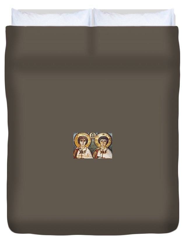 7th Century Duvet Cover featuring the photograph Saints Sergius And Bacchus by Granger