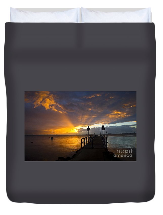 Sunrise Duvet Cover featuring the photograph Salamander Bay Sunrise by Sheila Smart Fine Art Photography