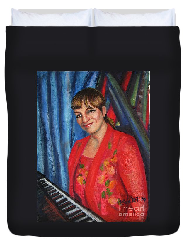 Musician Duvet Cover featuring the painting Sally Ann by Beverly Boulet