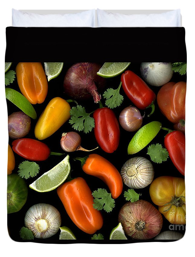 Culinary Duvet Cover featuring the photograph Salsa by Christian Slanec