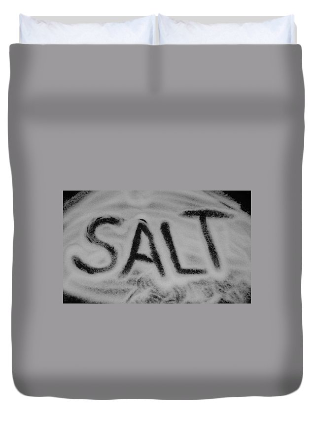Black And White Duvet Cover featuring the photograph Salt by Rob Hans