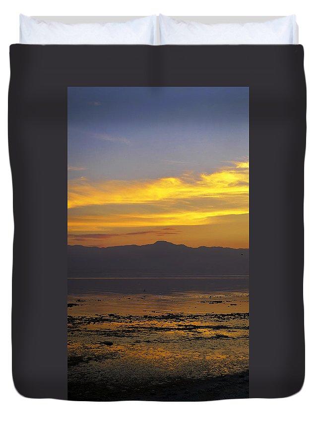 Salton Sea Duvet Cover featuring the photograph Salton Sea by Skip Hunt