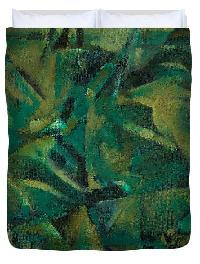 Abstract Duvet Cover featuring the painting Salvation by Ilgar Talibov