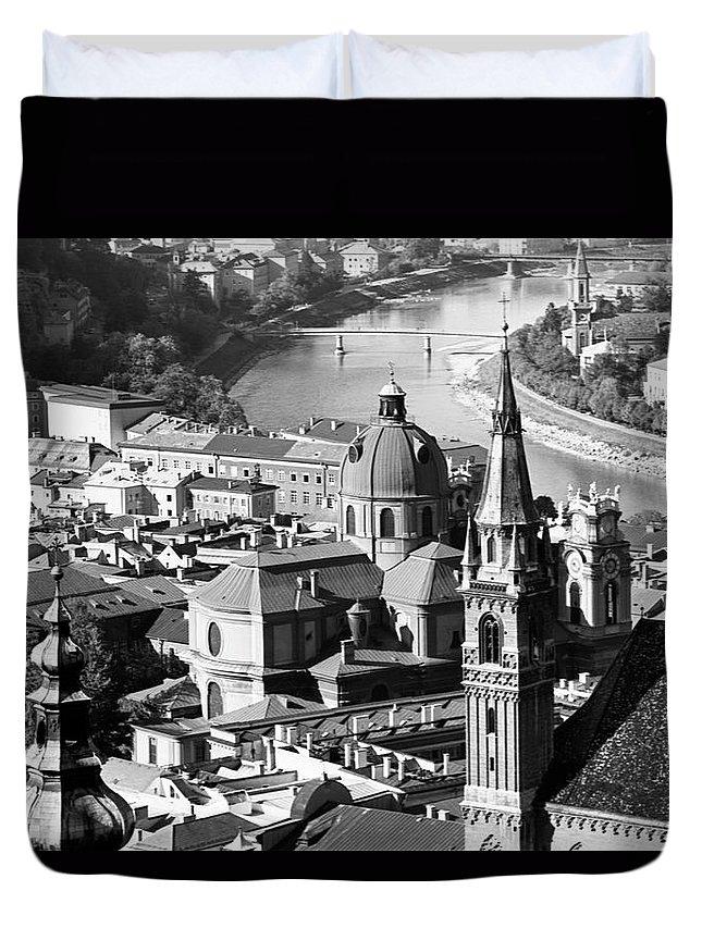 Salzburg Duvet Cover featuring the photograph Salzburg Austria 1 by Lee Santa