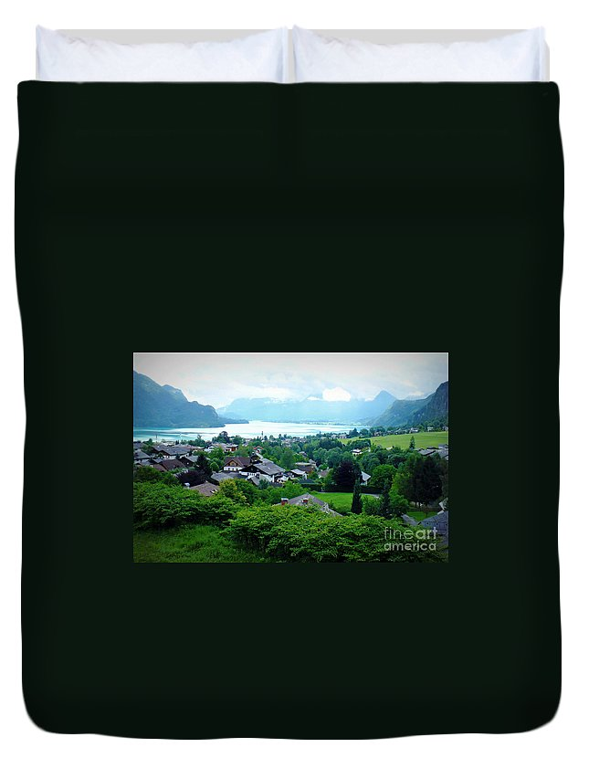 Austria Duvet Cover featuring the photograph Salzburg Lake District by Carol Groenen