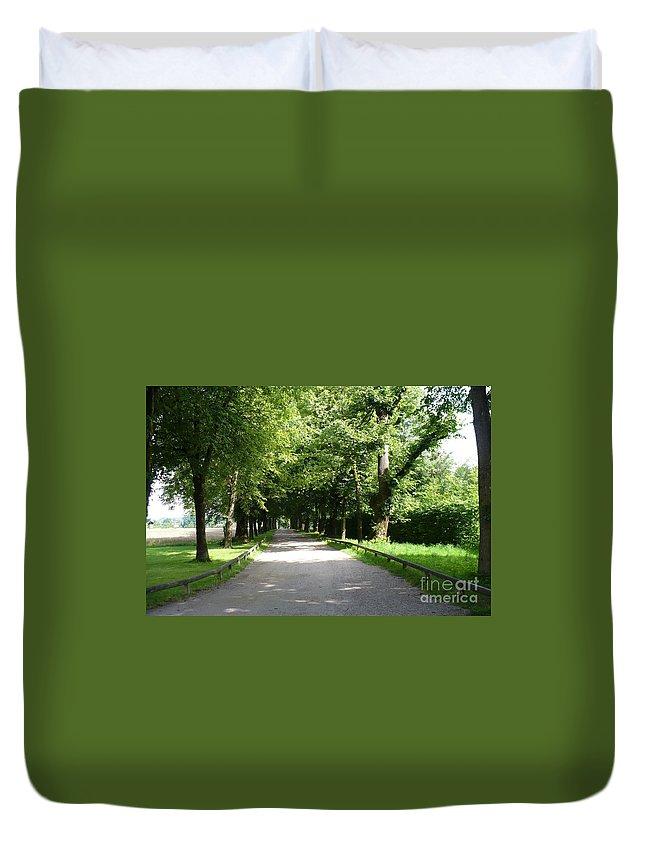 Austria Duvet Cover featuring the photograph Salzburg Lane by Carol Groenen