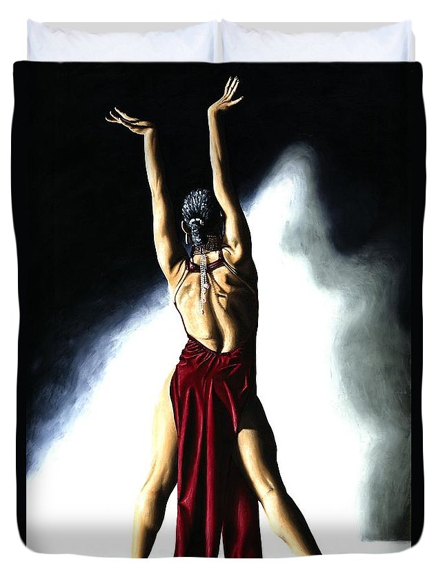 Samba Duvet Cover featuring the painting Samba Celebration by Richard Young