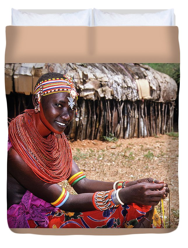 Africa Duvet Cover featuring the photograph Samburu Beauty by Michele Burgess