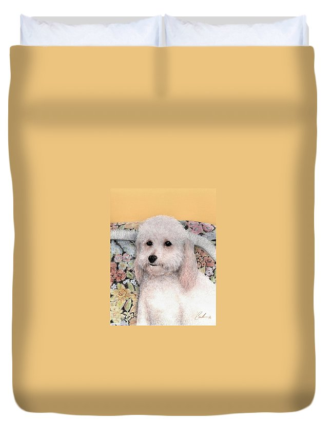 Dog Art Animals Bruce Lennon Duvet Cover featuring the painting Sammy by Bruce Lennon