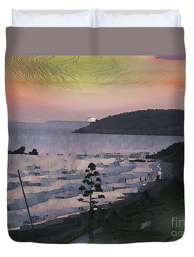 Sunset Duvet Cover featuring the photograph San Adeodato Sunset by Dee Flouton