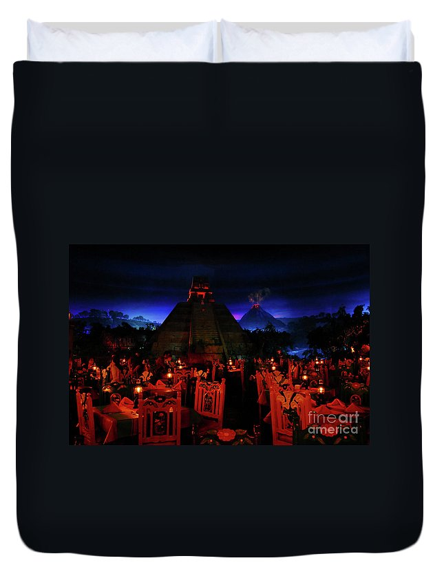 Fine Art Photography Duvet Cover featuring the photograph San Angel Inn Mexico by David Lee Thompson