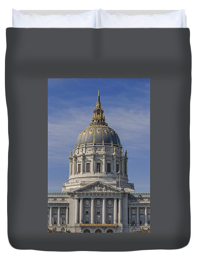 United Duvet Cover featuring the photograph San Francisco City Hall by David Taylor